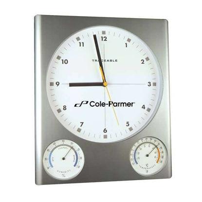 CLOCK W/TEMP AND HUMIDTYWith precise qua