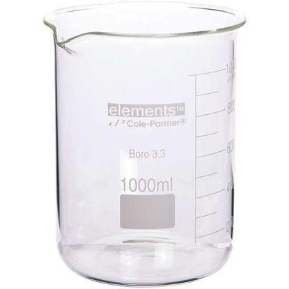 Cole-Parmer elements Low-Form Beaker, Glass, 5000 mL, 1/pk