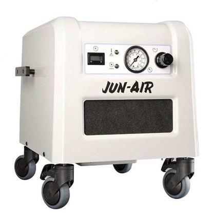 JUN-AIR Jun-Air Oilless Piston Air Compressor w/ Dryer & Sound Proof Cabinet, 4 L, 230V