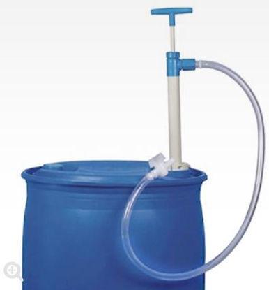 Burkle 5600-0802 Hand-Operated Barrel Pump, Polypropylene, Tubing with Stopcock; 260 ml/stroke