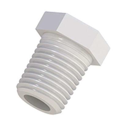 """Cole-Parmer VapLock Port Plug, 1/4"""" NPT(M), PTFE; 1/ea"""