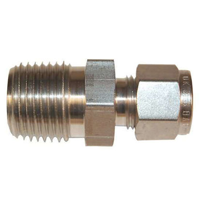 "Digi-Sense Compression Fitting; Probe Diameter 3/8""; 316 Stainless Steel 3/8""NPT (M)"