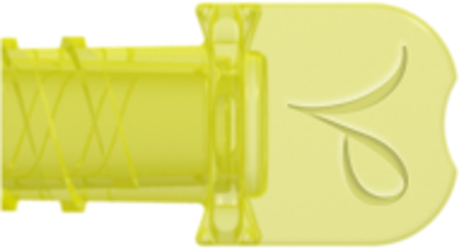 Neuraxial Female Vented Cap, fits Neuraxial Male Connector, Yellow Tinted Polycarbonate, MOQ 25000