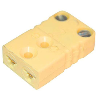Digi-Sense Miniature Type-K Thermocouple Female Connector, 2 Pin, 5Pk