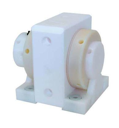 "Almatec FUTUR 20 AODD, max. 70°Abrasion Resistant Polyethylene Housing, PTFE Diaphragms, PTFE Valve Balls, 1/2"" NPT"