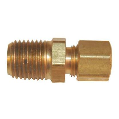 "Digi-Sense Compression Fitting; Probe Diameter 1/4""; Brass; 1/4""NPT (M)"
