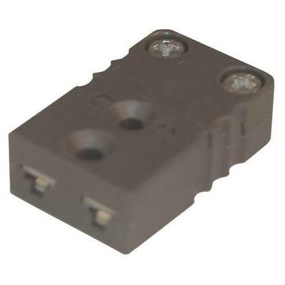 Digi-Sense Miniature Type-J Thermocouple Female Connector, 2 Pin, 5Pk