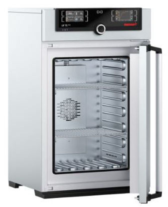 Universal oven UN75plus, natural convection, TwinDISPLAY, 74 l, Ambient +5 °C - 300 °C with 2 grids