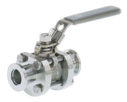 Ball valve VKE 40, stainless steel, KF DN 40