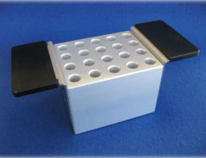 Sample preparation aluminium block 18 mm