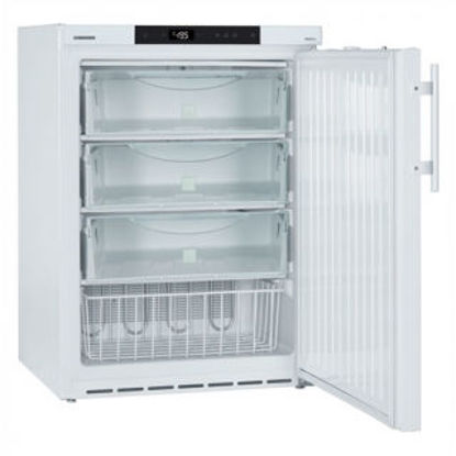 LGUex 1500 MediLine Spark-Free Freezer with Comfort Controller, Volume 139 L, Static Cooling, Dimension 600 x 615 x 820 mm, White Steel Cabinet Finish