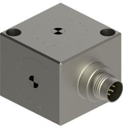 Model: 7503D3 - 40.77 mV/m/s² sensitivity, 98.10 m/s² range, 9-pin radial connector, mounting via two #8 or M4 screws, 30 grams,-55 to 125°C operation