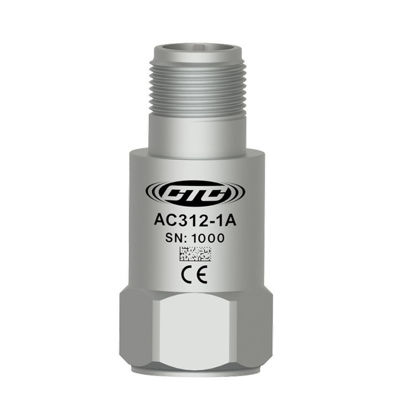 Ultra low power accelerometer, 25 mV/g top exit, 3-pin MIL connector, +/- 10% sensitivity, 1/4-28 mounting stud; Standard 1/4 28 Mounting Screw