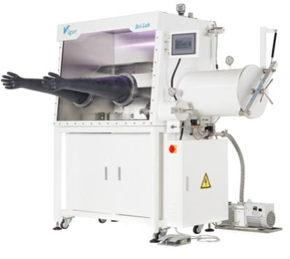 Standard V-Lab Single Length (2-port) Glovebox, as per Quote No. Q20200909C, vaccum pump, Only H2O < 1ppm