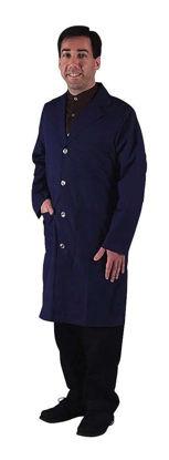 """LAB COAT UNISEX 40"""" BLUE L"""