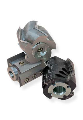 Cutting tool sets rotor with V-cutting edges and fixed knives made of hardmetal tungsten carbide