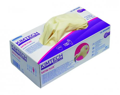 Disposable Gloves KIMTECH SCIENCE* SATIN PLUS, Latex, Powder-Free