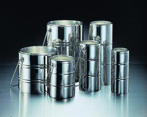 Chrome steel Dewar flasks