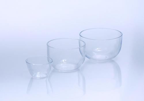 Crucibles, quartz glass, medium form