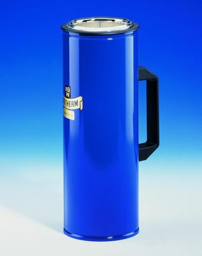 Dewar flasks, cylindrical, with side grip