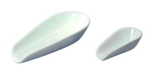 LLG weighing scoops,  porcelain