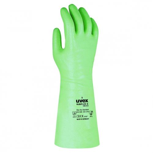 Chemical Protection Gloves uvex rubiflex S, NBR