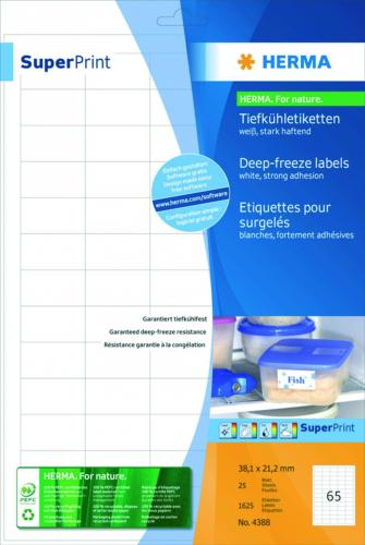 Deep freeze labels, white