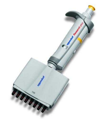 Multichannel microliter pipettes Eppendorf Research<SUP>&reg;</SUP> plus (EU IVD Product), variable