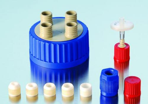 Connection system for wide-mouth bottles GLS 80<SUP>&reg;</SUP>