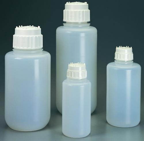 Heavy-duty vacuum bottles, PP, with screw cap, PP