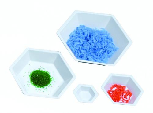 LLG-Hexagonal weighing boats, antistatic, PS