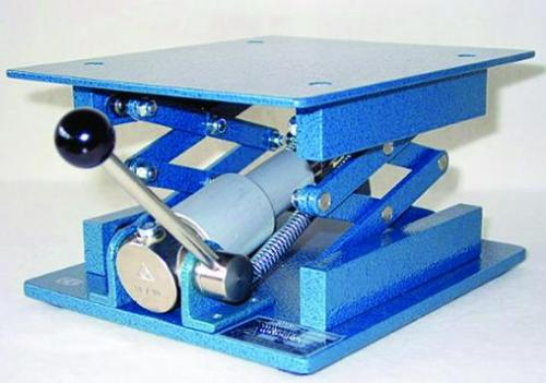 Laboratory jacks with hydraulic drive, stainless steel