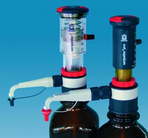 Bottle-top dispensers, seripettor<SUP>&reg;</SUP> / seripettor<SUP>&reg;</SUP> pro