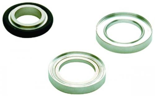 Vacuum fittings, centring rings