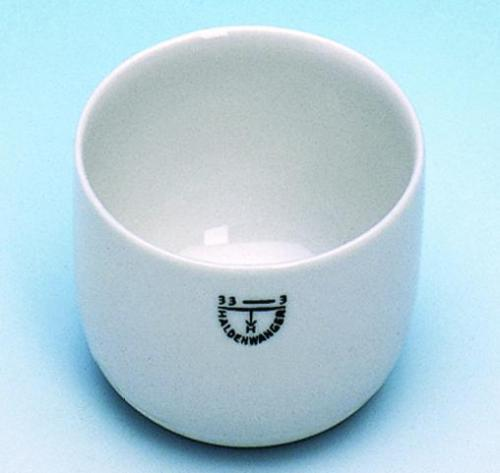 Incenerating dishes, porcelain, cylindrical form
