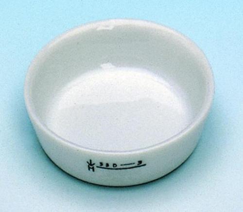 Incinerating dishes, porcelain, flat form