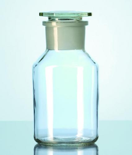 Wide-mouth reagent bottles with stopper, soda-lime glass