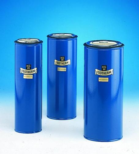 Dewar flasks, cylindrical, for CO<SUB>2</SUB> and LN<SUB>2</SUB>