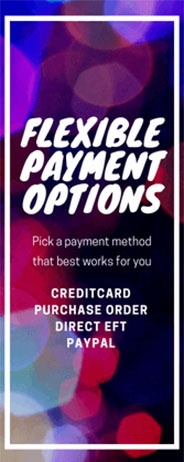 Flexible Payment Options!