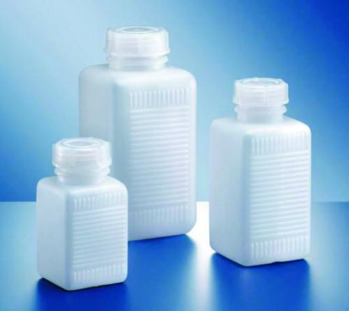 Wide-mouth square bottles, series 310, HDPE