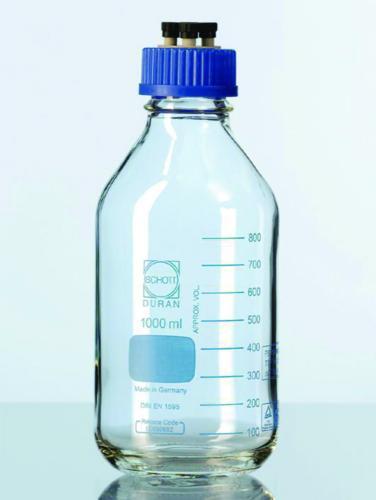 HPLC bottles, DURAN<sup>®</sup> complete system 4-port screw cap