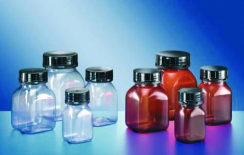 Square wide-mouth containers, series 310, PVC
