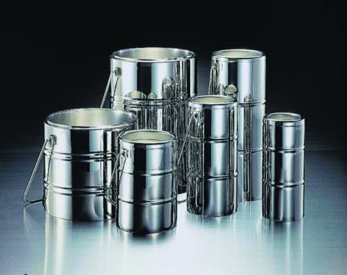 Chrome steel Dewar flasks