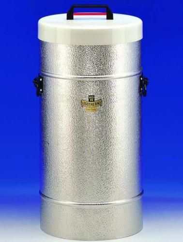 Dewar vessels, cylindrical, for CO<sub>2</sub> and LN<sub>2</sub>