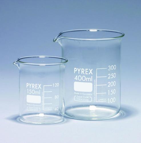 Beakers glass, Pyrex<SUP>&reg;</SUP>, low form