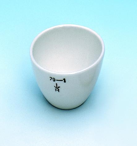 Crucibles, porcelain, low form