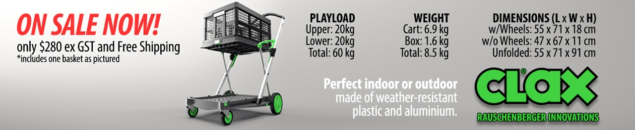 Clax Trolleys In stock ready for delivery. Limited Time Only